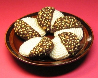 Choco-Nutty Cookies - Crochet PDF Pattern - Instant Download