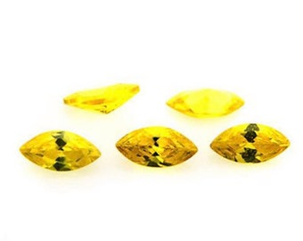 Cubic Zirconia Yellow Marquise AAA Wholesale Lot Loose Stones (4x2mm - 16x8mm)