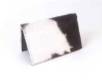 Black and White Cowhide Wallet