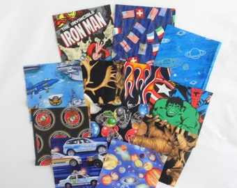 Charm Pack I Spy Fabric Squares Novelty Prints Charm Packs for Boys Sewing Supplies Needlecraft Supplies