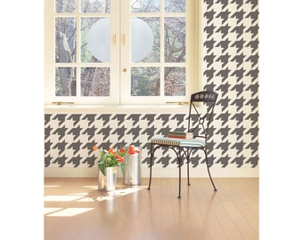 Houndstooth Wall Stencil Reusable