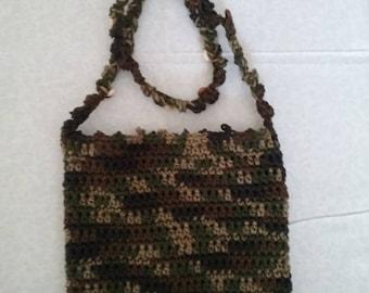 Crochet Handbag: Camo