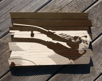 Vinyl Record LP painting on reclaimed wood Record player painting Mookie Wood Art