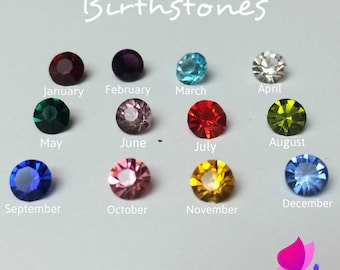 Birthstones Floating Charms, Birthstones for Living Lockets