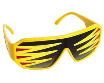 Rasslor Side Spikes Shield Sunglasses