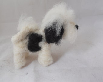 Custom needle felted Tibetan terrier - needle felted origonal puppy soft sculpture.