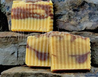 Golden Ginger Cold Process Soap, Goat Milk soap, Handmade, Shaving Soap, Fantastic Lather, Essential Oils, Natural, Man or Woman, Gifts