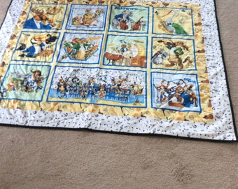 """Baby Quilt or wall Hanging 50"""" x 40"""""""