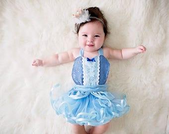 Cindrella baby costume, baby princess costume, newborn photo prop, princess baby shower gift, baby girl Halloween costume, newborn baby girl