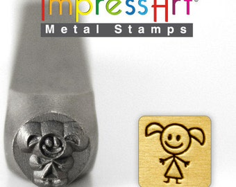 Daughter or Girl Stick Figure Metal Stamp ImpressArt- 6 mm  Design Stamp-Perfect for Your Hand Stamping Needs-Steel Stamps