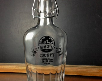 Moonshine Glass Flask