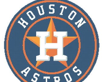 Houston Astros Logo -- Counted Cross Stitch Chart Patterns, 3 sizes!