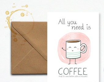 """Map """"All you need is coffee"""""""