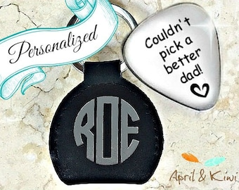 Father-of-the-bride gift • father-of-the-groom gift • brides gift to dad • personalized guitar pick •wedding gift to dad  stocking stuffer