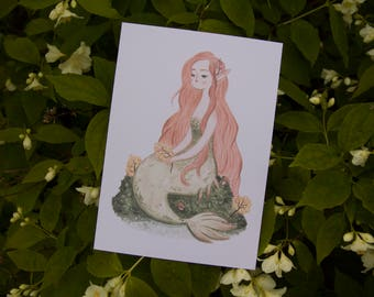 Forest Mermaid - Art Print