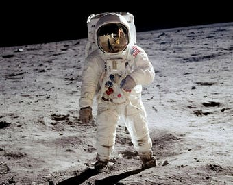 Astronaut on moon surface