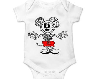 X-ray Mousey Baby Onesie - FREE SHIPPING - Mickey Onesie - Mickey Baby Shower - Mickey Mouse Onesie - Disney Onesie - Mickey Mouse Shirt