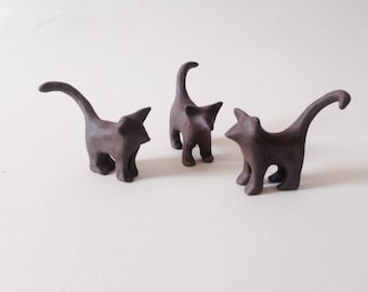 Cat Miniature Cat, Ceramic Cat Animal Totem