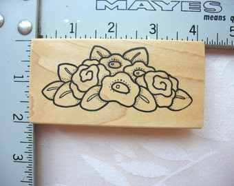 Darcie's Country Folk Flowers Posies DESTASH Rubber Stamps~Used Rubber stamps