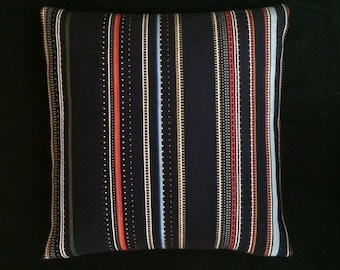 """Point by Paul Smith Black and Coral Maharam 17""""x17""""  modern Pillow - includes feather insert"""