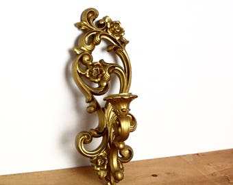 Vintage HOMCO wall sconce…1971 candle sconce...Hollywood Regency.
