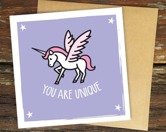 You Are Unique – Greeting Card