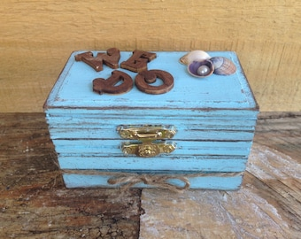 Rustic Wedding Ring Box. Beach Wedding Ring Box. Ring Bearer or Keepsake Box. We Do Ring Box. Ring Box. Ring Bearer Pillow.