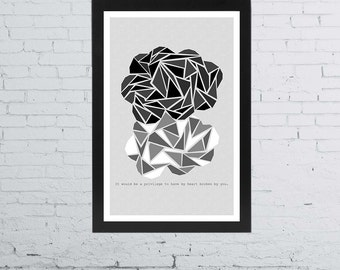 The Fault In Our Stars Minimalist Poster | 11 x 17 Inches