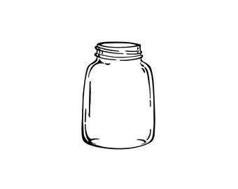 Vintage Jar Rubber Stamp,Mason Jar ,Kerr Jar, Ball Jar,Orgainic,Canning,Mason,Ball,Kerr,Glass,Rustic,Kitchen,Craft Fair, Cling Stamp (56-12)