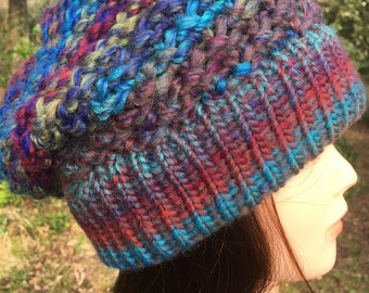 Wool Knitted Hat, Beanie Hat
