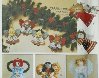 Simplicity Sewing Pattern 8687 Angel Tree Topper, Angel Ornaments, Country Christmas Ornament, Craft Pattern, Christmas Decor, Home Decor