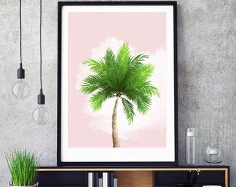 Palm Tree Pastel Print - Digital Download