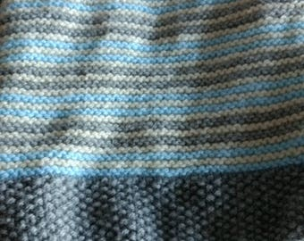 Baby blanket striped three colors