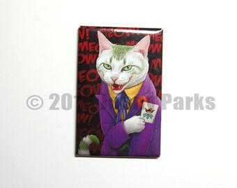 Joker Cat Magnet