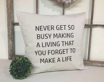Farmhouse Pillow Cover, Canvas Pillow Cover, Pillow Cover, Grain Sack Pillow Cover, Farmhouse style Pillow Cover, Decorative Pillow Cover,