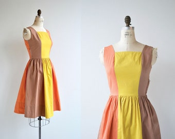 City Fair dress | vintage 1950s dress | cotton 50s dress