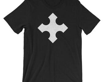 Cross of Cerdanya Heraldry Coat of Arms Crusader Crusades t-shirt