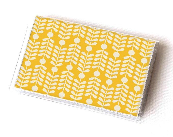 Vinyl Card Holder - Scandinavian Summer4  / card case, snap, vinyl wallet, women's wallet, small wallet, pretty, floral, flowery, gift, bird