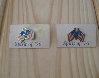 """Vintage American Flag Pin  """"Spirit of 76"""""""