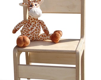 High Chair-unglaublich stabil-natural - optionally with names!