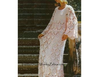 Crochet Dress Pattern PDF 139 Vintage Evening Dress from WonkyZebra