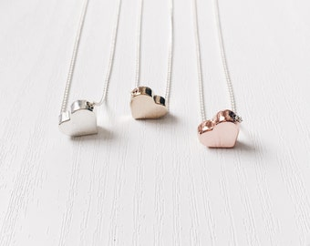 Dainty Heart Necklace | Love Heart Layering Necklace | Everyday Jewelry | Minimalist Simple Necklace | Gift for Her| Bridesmaid Gift