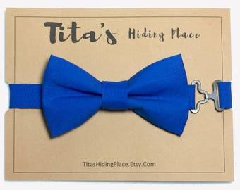 Blue Bow Tie, Boys Blue Bow Tie, Royal Blue Bow Tie, Mens Blue Tie, Bow Ties For Men, Boys Bow Tie, Groomsmen Bow Tie, Wedding Bow Tie