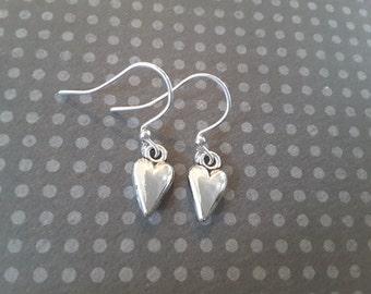 Petite Heart Drops . Earrings