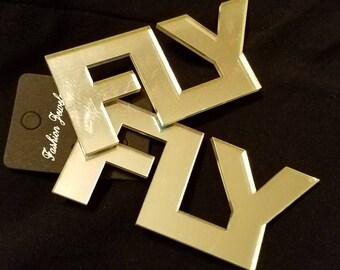 Silver Mirror FLY Earrings