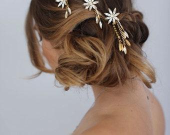Bridal hair pins - Shooting star bobbies, set of 3 - Style 606 - Made to Order
