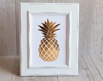 Pineapple Foil Print