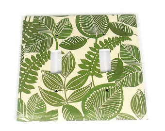Double Toggle Switch Plate Light Switch Cover  in Rainforest   (206D)
