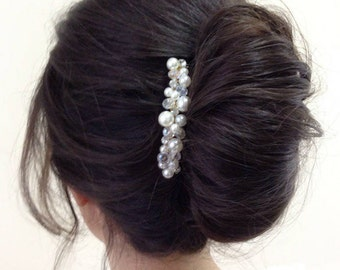Bridal Hair Comb Pearl Hair Comb Rhinestone Hair Comb Wedding Hair Piece Bridal Headpiece Bridal Hair Accessories Wedding Crystal Hair Comb