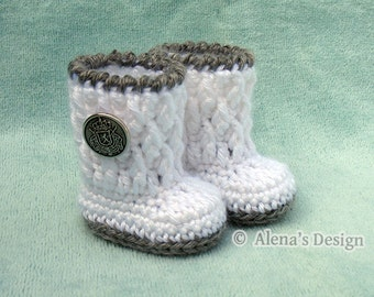 Crochet Pattern 124 - Crochet Boot Pattern for 18 inch Doll Crochet Patterns Silver Button Boots for American Doll 18 in Dolls Gift for Girl